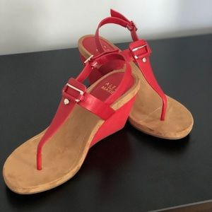 Practically New Red Wedges size 10